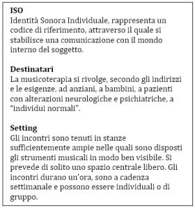 Musicoterapia_Identità, destinatari e setting