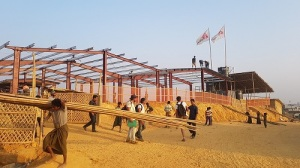 Construction site of the MSF hospital.
