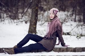 donna-sulla-neve