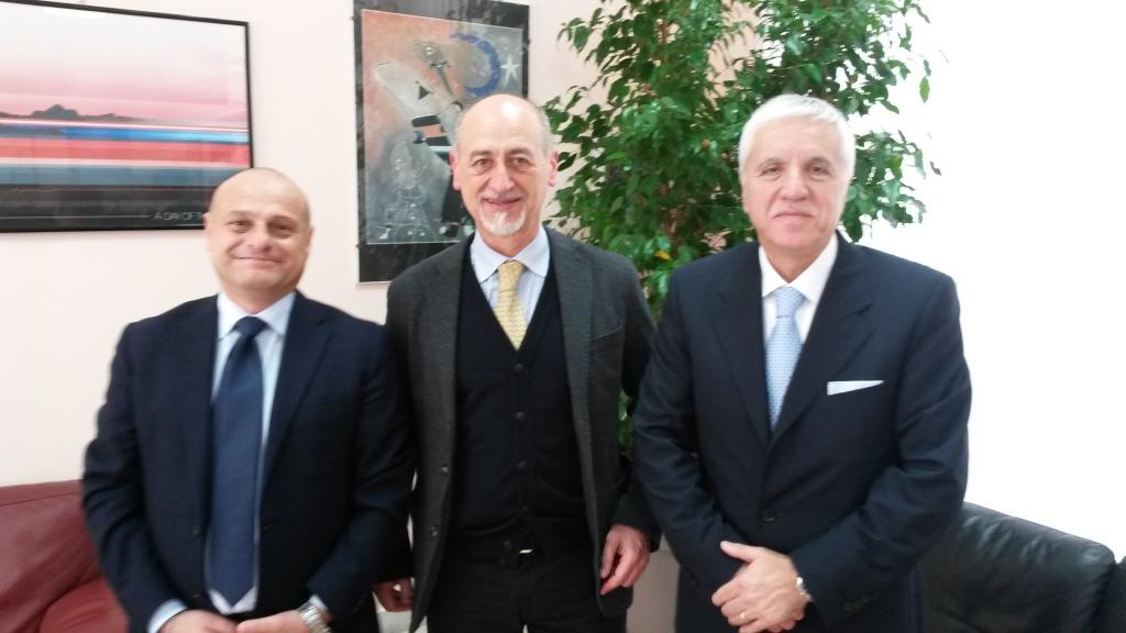 da sinistra Fabrizio Di Bella, Gervasio Venuti, Giovanni Bavetta