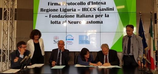 firma-protocollo-gaslini-regione-liguria-fondazione-neuroblastoma
